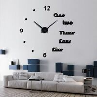 Acrylic Wall Clocks Quartz Watch Home Decoration Modern Mirror Effect 3D DIY New