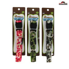 "Dog Pet Light Up Glow Safety Collar Camo 16"" - 23"" ~ New"