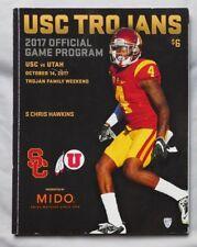 USC TROJANS Vs UTAH UTES GAME PROGRAM October 12 2017 Chris Hawkins USC