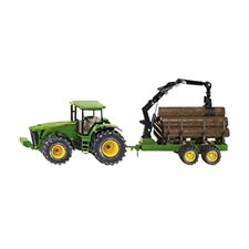 1:50 Siku John Deere Tractor With Forestry Trailer Model - 150 8430 Scale 1954