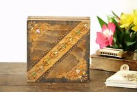 Hand Carved Wooden Box Vintage Trinket Box Wood Box Jewelry Box Keepsake Box