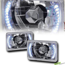 4X6 Crystal Chrome Glass Lens White Led Headlights H4 H4651 H4652 H4656 H466 Vd4