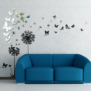 Decoration Dandelion Transparent Nature Wall Stickers Mural Decal Paper Art