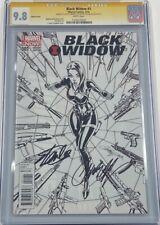 Black Widow #1 B&W Sketch RI 1:100 Variant Signed Stan Lee & Campbell CGC 9.8 SS