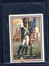 1953 Topps Fighting Marines SP High #92 U.S. Marines 1805 The War in Tripoli PR