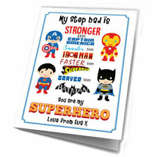 Card For Step Dad Birthday Gifts Hero Gift Framed From Daughter Son Fathers Day
