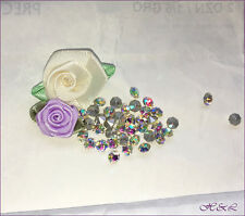*80 Preciosa ss18 Vintage Clear Glass CRYSTAL AB CHATONS 18ss SF 4.2mm 4mm bdget