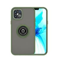 For iPhone 12 mini Pro Max Magnetic Car Holder Case Rotation Ring Stand Cover
