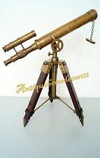 """Antique 18"""" Solid Brass Telescope Desk Home Office Table Marine Nautical Gift.."""