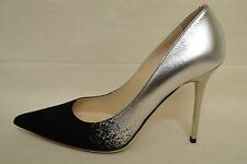 Jimmy Choo Able Black & Silver Pumps Shoes Sz 36.5/US 6.5 SOLD OUT! Retail $695