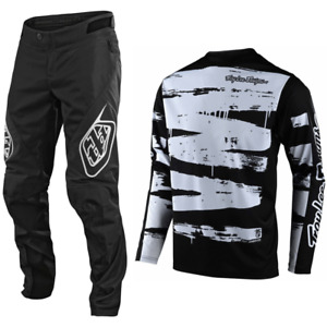 Troy Lee Designs Sprint Gear Combo Set Pants Jersey Bmx Mtb Dh BRUSHED WHITE