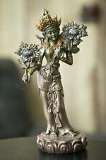 "Green Tara Goddess Protector 8.25"" 'Bronze' Buddhist Statue Figurine Exquisite"