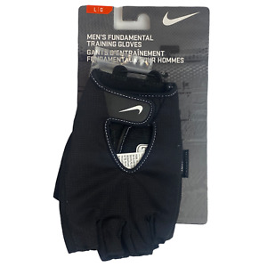 Nike Men's Fundamental Training Gloves Black Large L/G Fitness Gym