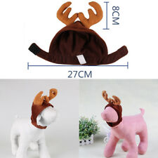 Christmas Cute Pet Dog Puppy Cat Reindeer Hat Cap Xmas Party Costume Fancy Dress