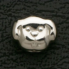 Dog European Beads Charms Fits Charm Bracelet & Necklace Stainless Steel Silver