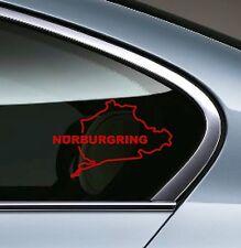 2 - BMW NURBURGRING E34 E36 E39 E46  Window Decal sticker emblem logo RED