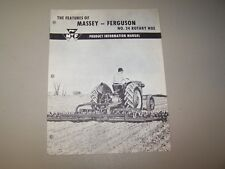 MF NO. 24 ROTARY HOE PRODUCT INFORMATION MANUAL MASSEY FERGUSON 1950's-60's
