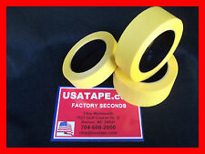 "Lot Of 24 Rolls 2"" X60 Yrds Fine Edge Yellow Painters Masking Tape MADE IN USA"
