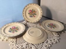 "HOMER LAUGHLIN PETIT POINTE 8"" PLATES SET OF 4 (P1860A)"