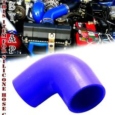 "2.5"" To 3"" Inch 90 Degree Silicone Hose Coupler Reducer Turbo Pipe Intake Blue"