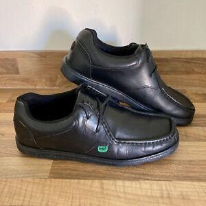 Kickers Fragma Lace Up Black Shoes UK Size 8