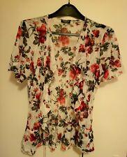 Beautiful Rose Print Lacy Ladies Top