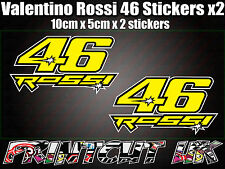 Valentino Rossi 46 Decal Sticker x2 Moto Racing Bicicleta Casco Portátil Coche Scooter S