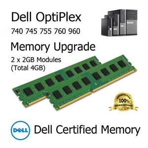 4GB Kit (2x2GB) DDR2 Memory Upgrade for Dell OptiPlex 740 745 755 760 PC2-5300U