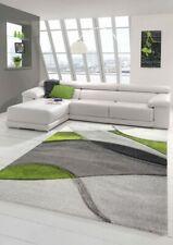 Tapis moderne tapis salon abstrait en vert gris noir