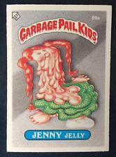 Jenny Jelly 69a UK Garbage Pail Kids Series 2(1986)Puzzle Piece Bak~NMT/MINT