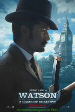 SHERLOCK HOLMES : A GAME OF SHADOWS MOVIE POSTER 2 SIDED JUDE LAW WATSON ADVANCE