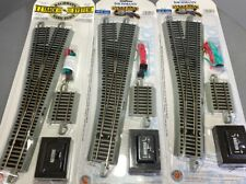 Bachmann HO EZ-Track Nickel Silver #5 Left Hand Switch W Remote LOT x3(A8-296)