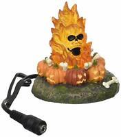 Flaming Skull Bonefire Dept 56 Snow Village Halloween 4057628 accessory lit Z