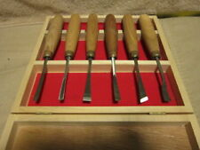 6 PIECE CARVING CHISEL SET NEW