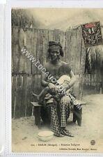 (Ga1216-450) Breast Feeding Lady, DAKAR, Senegal 1916 Used VG-EX