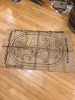Primitive Hook Rug Pattern On Burlap Wonder Art No 305 24x36