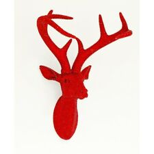 Ruby Red Stags Deer Antler Wall Mount Animal Head Bling Star Studded