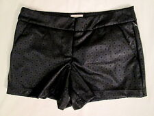 GB Pupu faux Leather/Polyester lined Black star cutout shorts sz 1 FREE SHIP