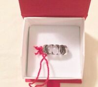 $330 BACCARAT TORSADE MIST CRYSTAL US 7 SIZE 55 RING STERLING SILVER NEW IN BOX
