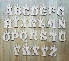 Unicorn Thick MDF Wooden Letters & Numbers Choice of Heights 10cm to Large 60cm1