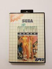 CALIFORNIA GAMES Sega Master System pal EUR completo