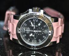 Invicta Rare Men's Unique 11914 Excursion Chrono Black Dial Pink Poly Watch