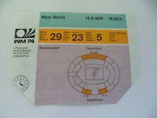 WM 1974 Deutschland-Chile DFB Ticket Eintrittskarte  #036