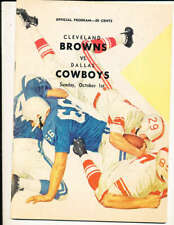 October 1, 1961 Dallas Cowboys vs Cleveland Browns football program