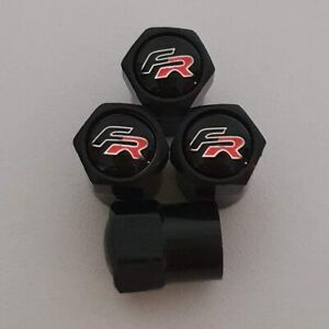 SEAT FR Plastic Wheel Valve Dust caps all models black 9 Colours Leon