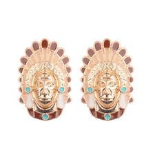 Earrings For Lady Women Dw-Eh-Hqe499 Bohemian Pharaoh Portrait Lace Color Alloy