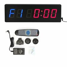 "2.3"" DEL Interval Timer Gym Wall Clock Compte à rebours for Training Fitness Crossfit"
