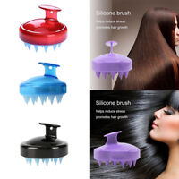 Multicolor Soft Silicone Shampoo Brush Hair Scalp Cleaning Care Spa Massage Comb