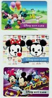 DISNEY Gift Card - Mickey Mouse & Minnie - Collectible / No Value - LOT of 3