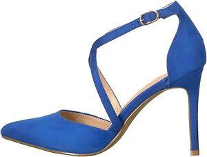 Athena Alexander Women's Monett Dress Sandal, Blue Suede, Size 6.5